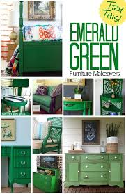 emerald green furniture. Gorgeous Furniture Makeovers Featuring The Color Emerald Green. Try Painting A Bureau, Table Or Chair In Green And Watch Room Pop With Color. Pinterest