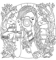 coloring page for girls. Plain Page Camera Coloring Pages Girl With A Page For  Adults Kids Throughout Girls Pinterest