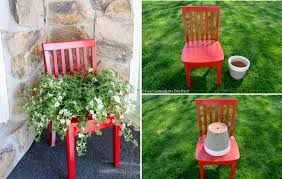 The process to create a chair planter
