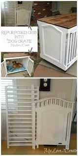 repurpose furniture dog. Repurposed Crib Dog Crate Repurpose Furniture