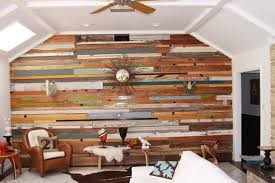image of antique reclaimed wood paneling design for family room