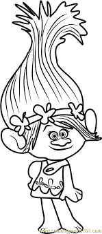 Small Picture Princess Poppy from Trolls Coloring Page coloring pages