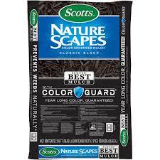 Scotts Nature Scapes <b>Color</b> Enhanced Mulch <b>Classic Black</b>, <b>2</b> cu. ft ...