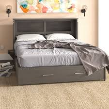 bed frame with mattress included.  With Edmeston Queen Storage Murphy Bed With Mattress For Frame With Included