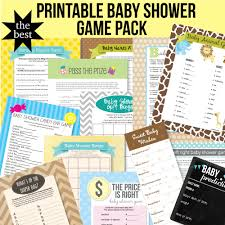 17 Games! Printable Baby Shower Game Pack | CutestBabyShowers.com
