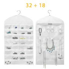 eeekit closet hanging jewelry organizer necklace storage holder travel display case bag com