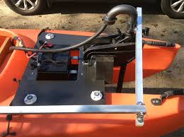 electric trolling motor and steering bar 1024