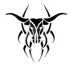 Fototapeta černá Tetování Býk Ilustrace