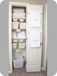 guest bathroom linen closet storage ideas organization