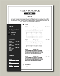 A good resume template for candidates in the it or tech fields. Free Resume Templates Resume Examples Samples Cv Resume Format Builder Job Application Skills
