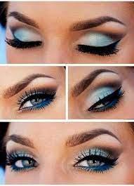 eye makeup light blue dress saubhaya