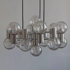 Doria Großer Kronleuchter Deckenlampe 14 Leuchten Chrom