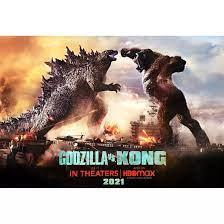 """ขายดีสุดๆ โปสเตอร์ หนัง ก็อดซิลล่าปะทะคอง Godzilla vs Kong (21) POSTER  24""""x35"""" นิ้ว ตกแต่งบ้าน home décor ของแต่งบ้าน"""