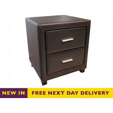 cheap bedside cabinets. Delighful Cabinets Shop Dorset Brown Faux Leather Two Drawer Bedside Cabinet 2DBSBRN  Cheap  Intended Cheap Bedside Cabinets R