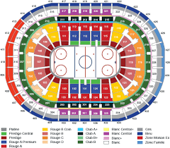 Montreal Canadiens Bell Center Seating Chart Montreal Canadiens Seating Map Centre Bell Seating Chart