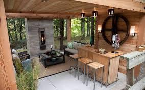diy wood and metal outdoor bar stools