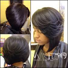 Layered Weave Bob Hairstyles Layered Bob Haircuts Pinterest