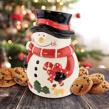 How To Decorate A Cookie Jar Snowman Holiday Ceramic Cookie Jar KOVOT 30