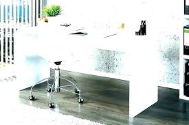 small glass top desk writing with drawers white hanging lacquered cool design