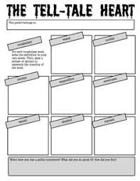 the tell tale heart by edgar allan poe reading activity packet   the tell tale heart by edgar allan poe reading activity packet edgar allan poe edgar allan and activities