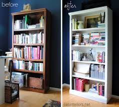 Now, if your bookcases need to actually be filled with books there are a  few ways to organize them in decorative ways