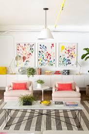 home office decorating ideas nyc. This Bright Living Space With Rainbow Artwork Is Perfectly Pretty 13 Kate Spade New York-Inspired Office Decor Ideas For The HBIC Via Brit + Co Home Decorating Nyc C