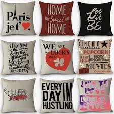 decorative pillows with words.  With Aliexpresscom  Buy Cheap Price High Quality Home Decorative Pillow LOVE  Sweet Words Printed 45x45cm Pillowcase Vintage Cotton Linen Pillows From Reliable  To Decorative Pillows With Words R