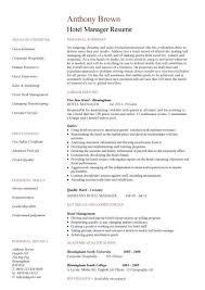 Microsoft Job Description Resume Template Microsoft Word Hotel Manager Cv Template Job
