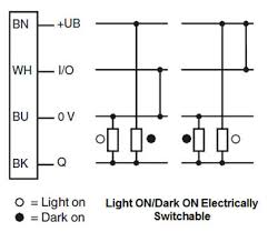 industrial sensors understanding the push pull output light on dark on electrically switchable this wiring diagram