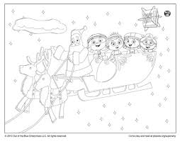 Small Picture Super Why Coloring Page Sleigh Ride with Santa Happy Holidays