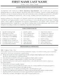 Sample Construction Superintendent Resume Quality Controller Sample Resume Podarki Co