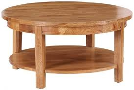 vancouver petite oak round coffee table