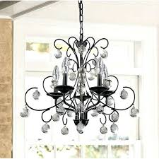 wrought iron and crystal chandelier 6