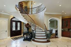... entryway designs. luxurious home with with a curved circular staircase  in luxurious home