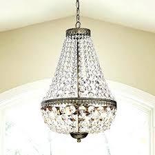 brushed gold chandelier 6 light glass crystal
