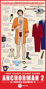 ron burgundy s guide to dress for success ly ron burgundy s guide to dress for success infographic