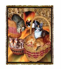 Cat Blankets And Throws