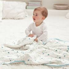 babies 2 layers 120X120cm thick baby blankets cotton muslin newborn ...