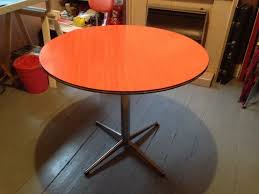 Round Formica Kitchen Table Retro Chic Vintage 60s Or 70s Round Dining Table With Formica Top