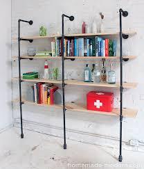homemade modern ep47 pipe shelves