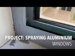 how to spray aluminium windows you