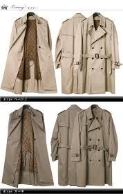 100 cotton liner removable doubled trench coat business coat beige khaki black men men coat