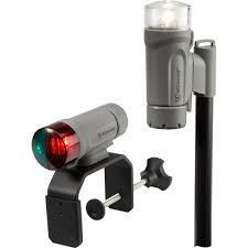 Attwood Bow Light Attwood Clamp On Portable Led Light Kit Marine Gray 14190 7