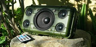 this diy project could be considered the hummer of the diy bluetooth speaker world its army green rugged and exudes power and volume