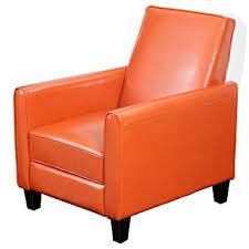 Burnt Orange Furniture Best Selling Davis Leather Recliner Club Chair Burnt Orange Furniture P