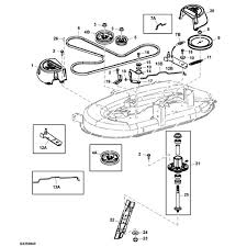 john deere d lawn tractor parts john deere 42 d100 series deck parts diagram