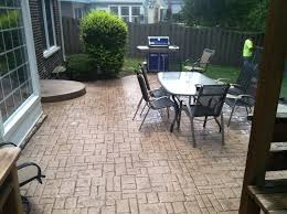 image of stamped concrete patio dining