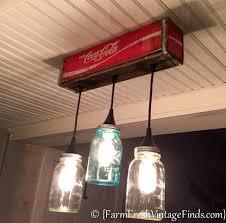 custom kitchen lighting. Pretty Design Ideas Mason Jar Kitchen Lights How To Make A Custom Light From Coke Crate Lighting