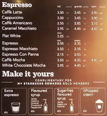 starbucks coffee menu. Simple Menu Starbucks Swords Menu Intended Starbucks Coffee M
