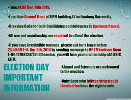 AIESEC XJTU】 [IMP][LCP Election] Candidate Announcement and Election Day  Information - Google Groups